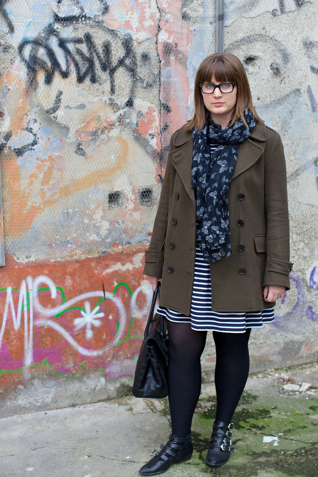 French Connection Outfit 027 OOTD: French Connection Stripes & Hipster Glasses