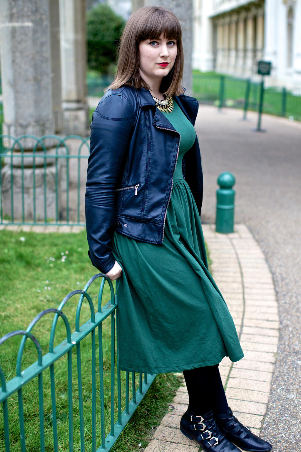 Green ASOS Midi Dress 1 030 mini Green in the Pavilion Gardens