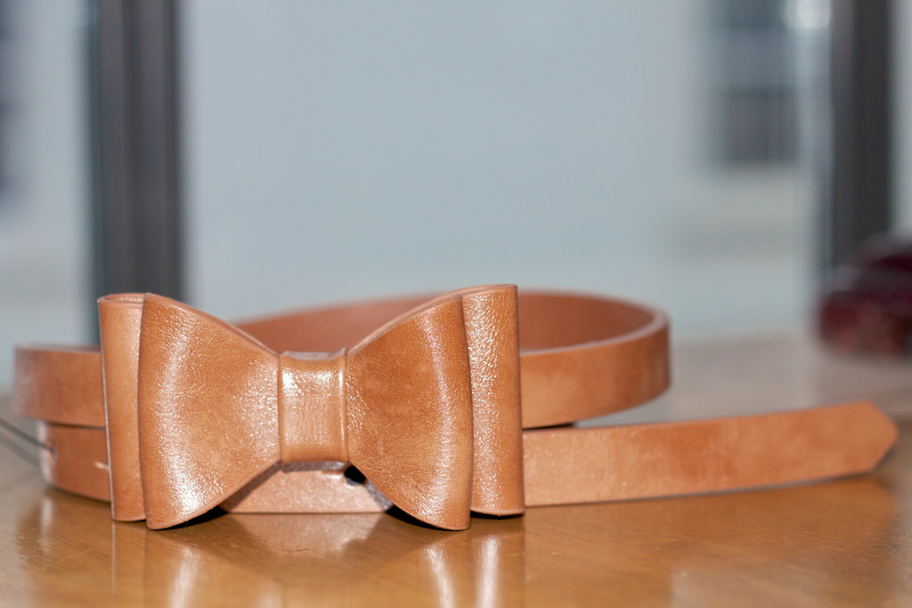Warehouse Leather Bow Belt 018