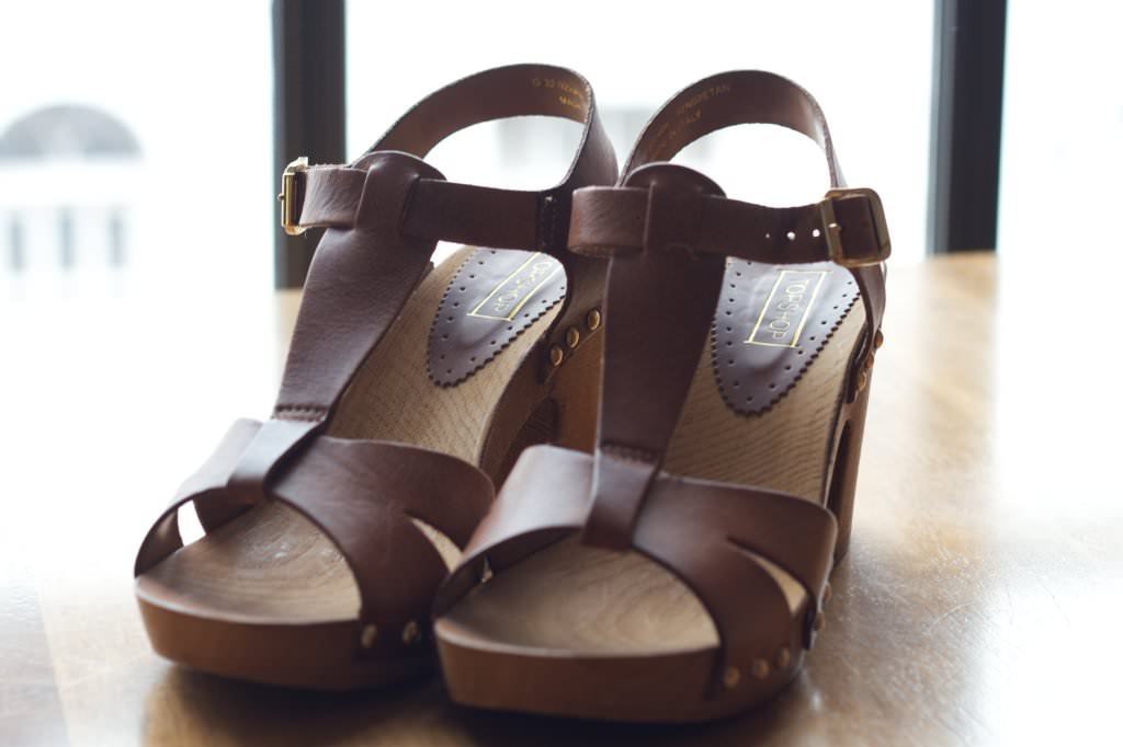 Topshop Tan Clogs 042 mini