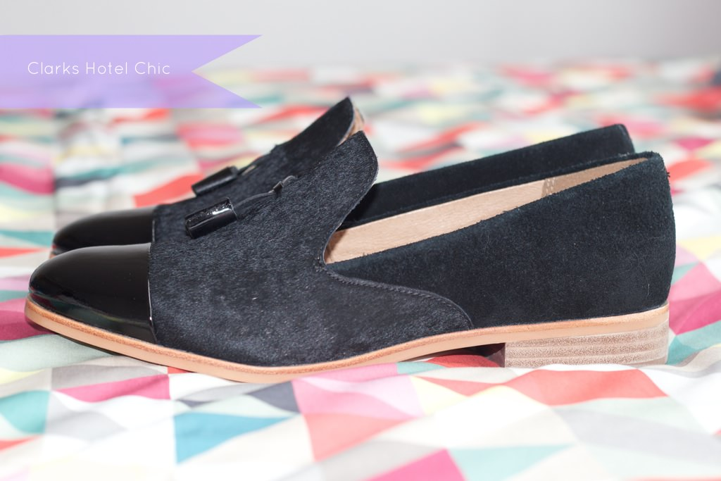 Clarks Black Patent Hotel Chic Loafers 080