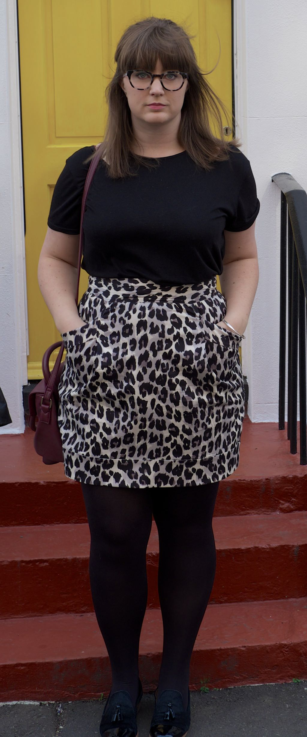 French Connection Leopard Skirt 109