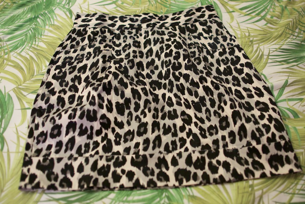 French Connection Snow Leopard Skirt 105