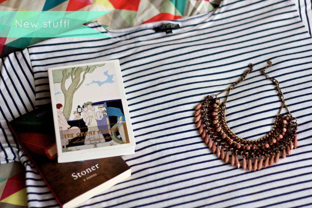 Topshop Breton Tshirt Zara Pink Bib Necklace 075