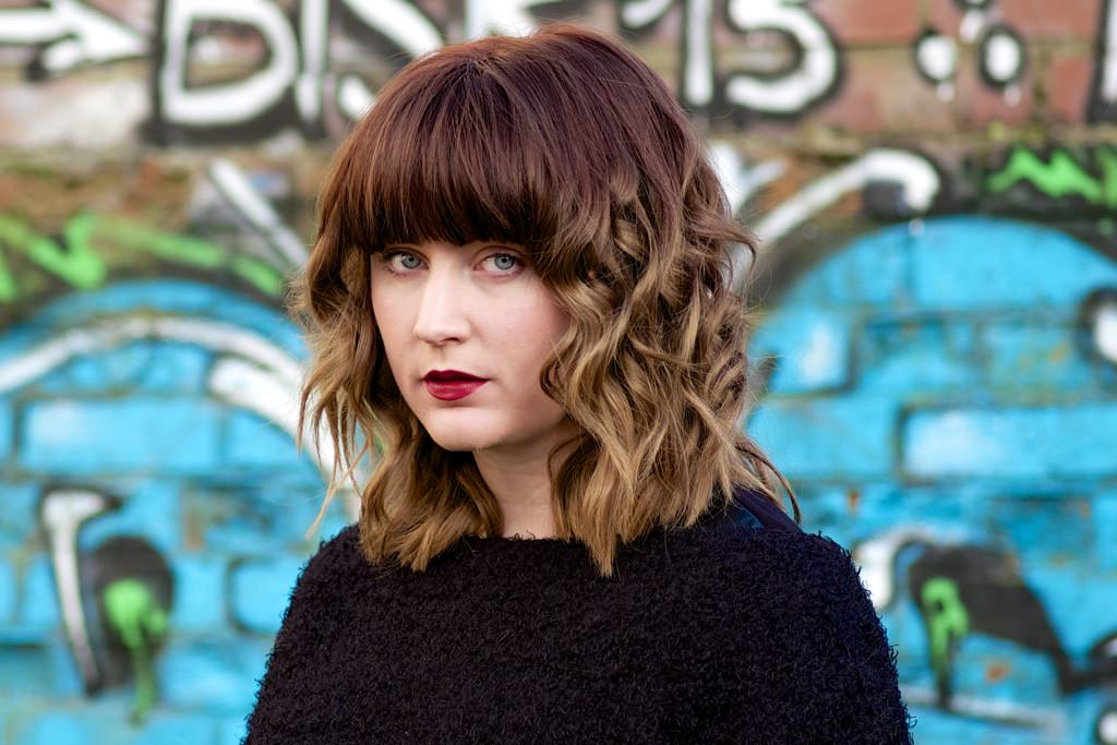 Shoulder Length Hair Ombre Waves With Bangs Culturazzi
